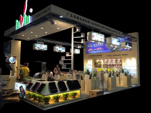 54平米展台设计搭建效果图相片